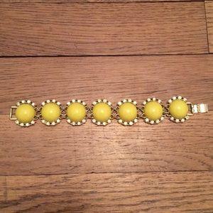 Banana Republic yellow and gold tone bracelet.